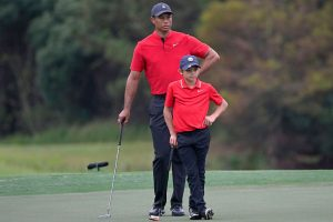 Tiger Woods and his son